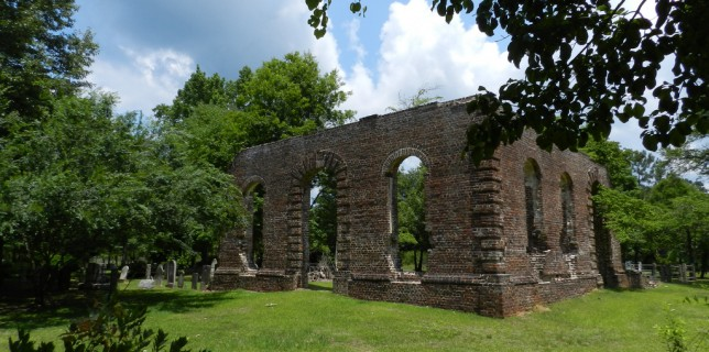 The Biggin Church site is the ruin of an early Anglican church in Berkeley County.